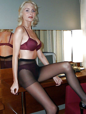 melissa elegant business woman undresses
