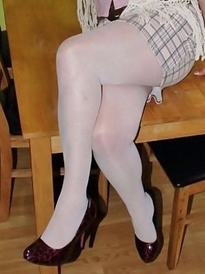 I love wearing tights, they are sooooo sexxy. The feel of the nylon carressing my legs and bum always makes me feel, ..