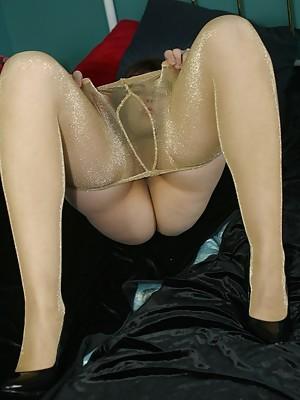 Pvc pantyhose goddess